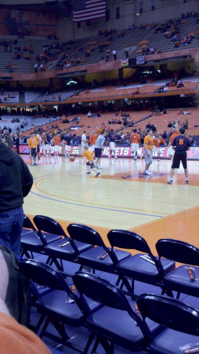 Seating view for Carrier Dome Section 123 Row CC