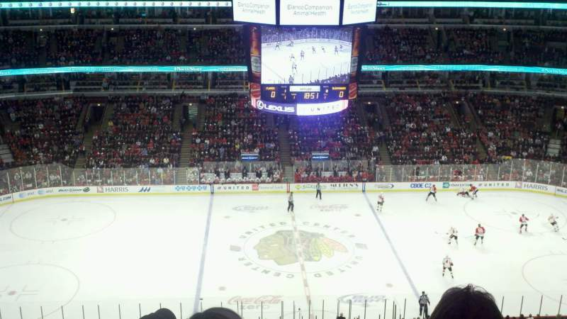 Seating view for United Center Section 318 Row 9 Seat 8