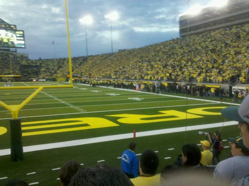 Seating view for Autzen Stadium Section 1