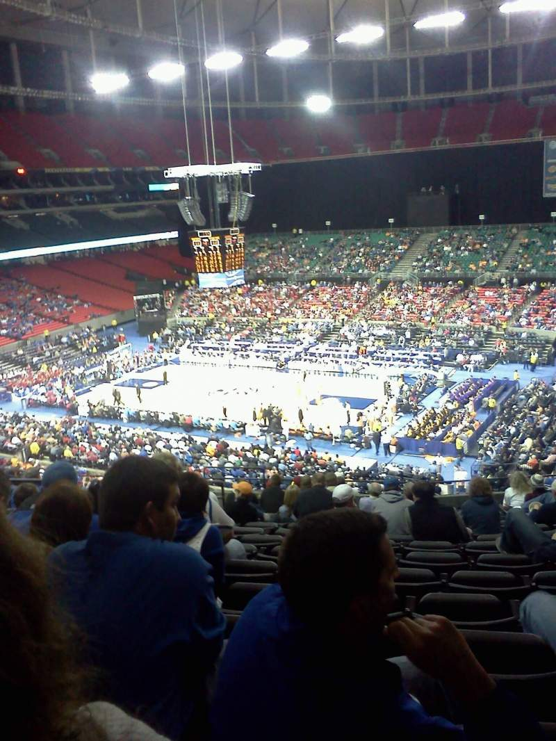 Seating view for Georgia Dome Section 231 Row 15 Seat 5