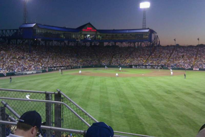 Seating view for Rosenblatt Stadium Section right center field  Row 10