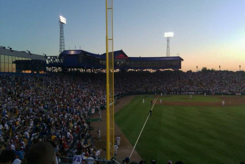 Seating view for Rosenblatt Stadium Section right field  Row 15
