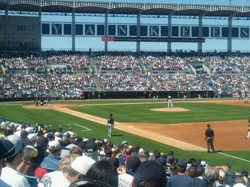 Seating view for George M. Steinbrenner Field Section 103 Row NN Seat 10