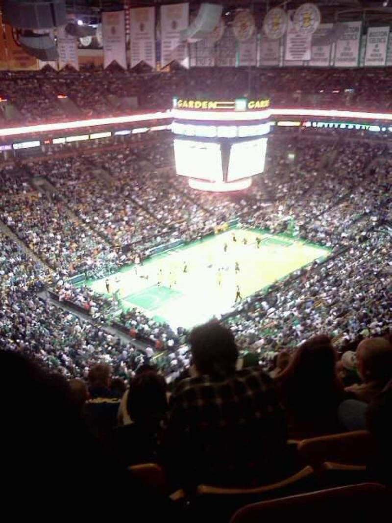 Seating view for TD Garden Section Bal 320 Row 15 Seat 15