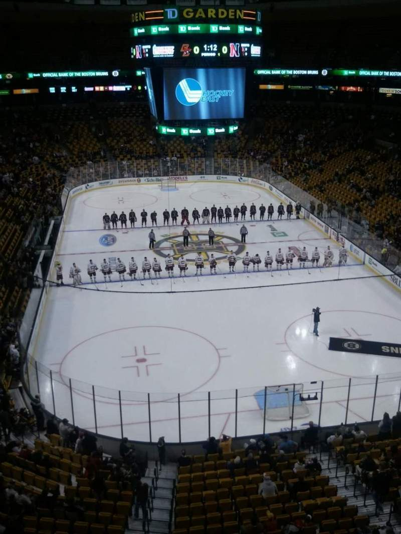 Seating view for TD Garden Section Bal 324 Row 1 Seat 16