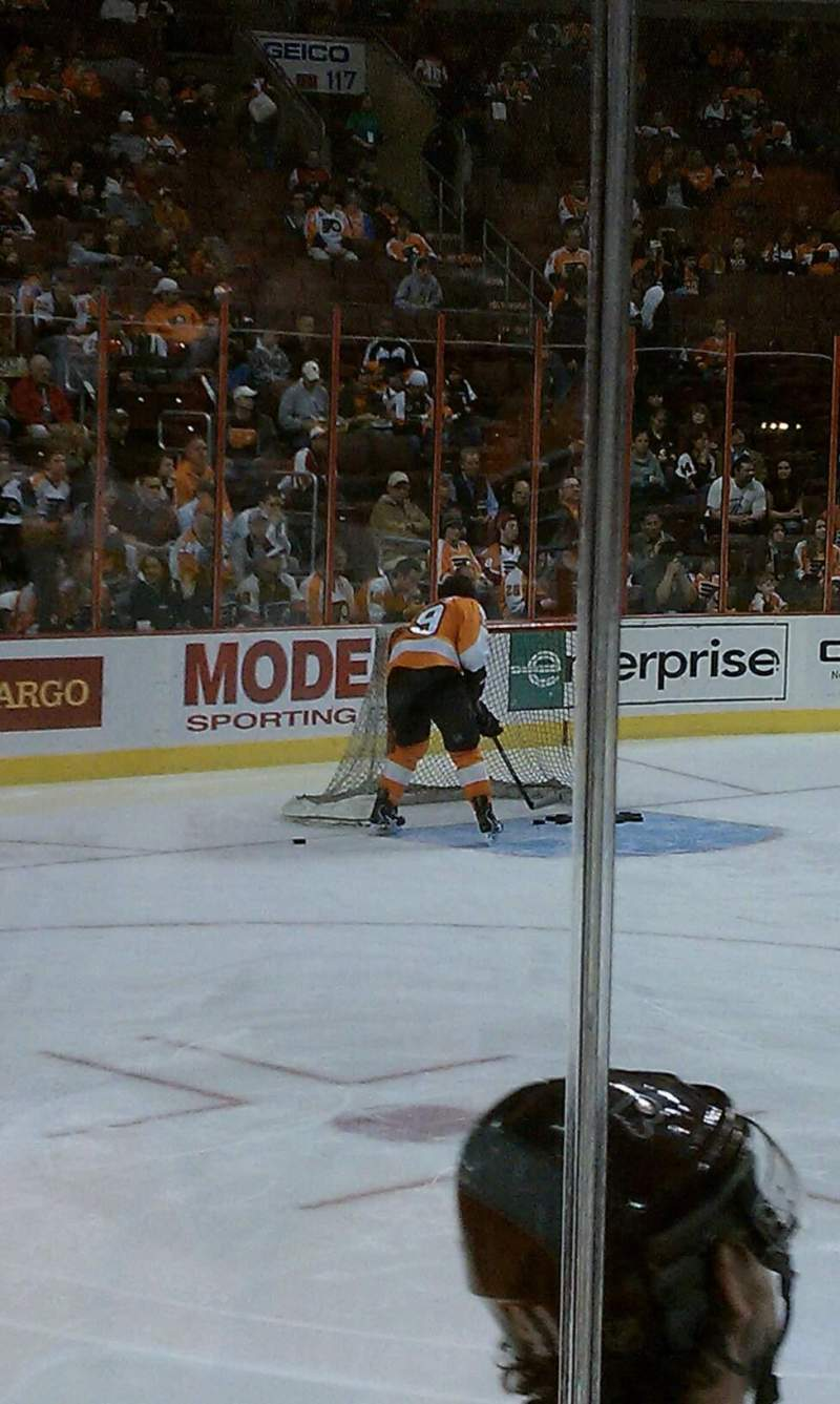 Seating view for Wells Fargo Center Section 124 Row 2 Seat 4