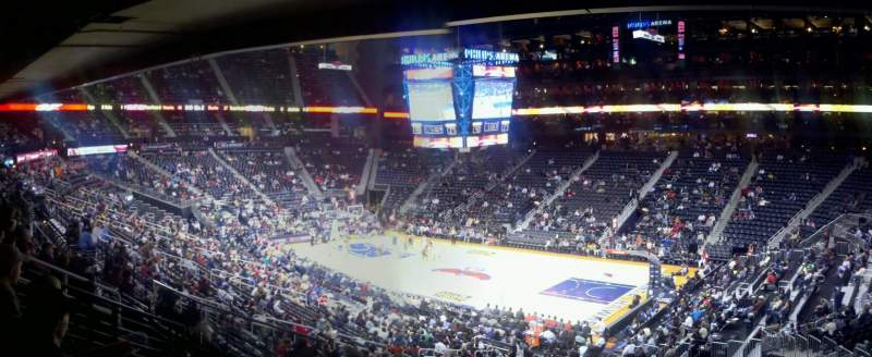 Seating view for Philips Arena Section 209 Row g Seat 2