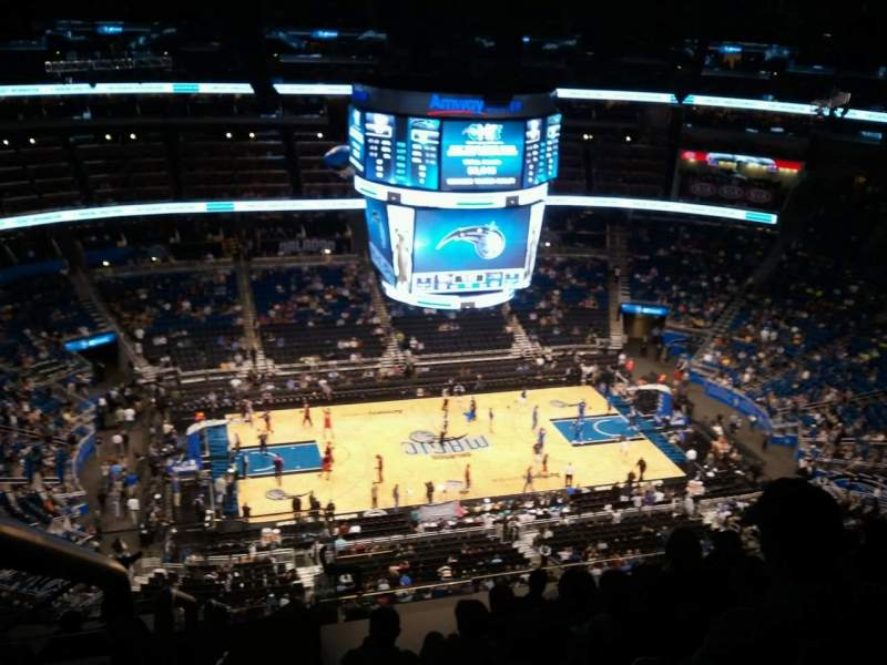Seating view for Amway Center Section 210 Row 15 Seat 22