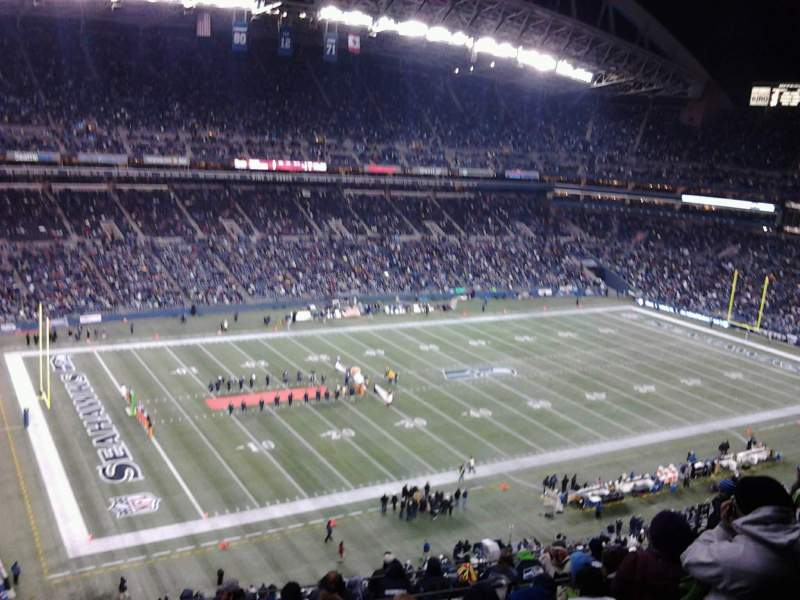 Seating view for CenturyLink Field Section 341 Row 3 Seat 2