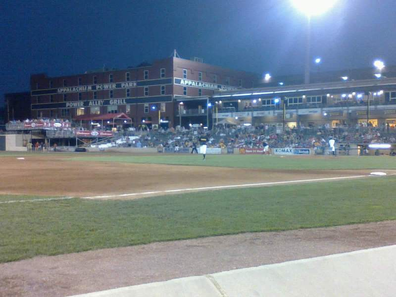 Seating view for Appalachian Power Park