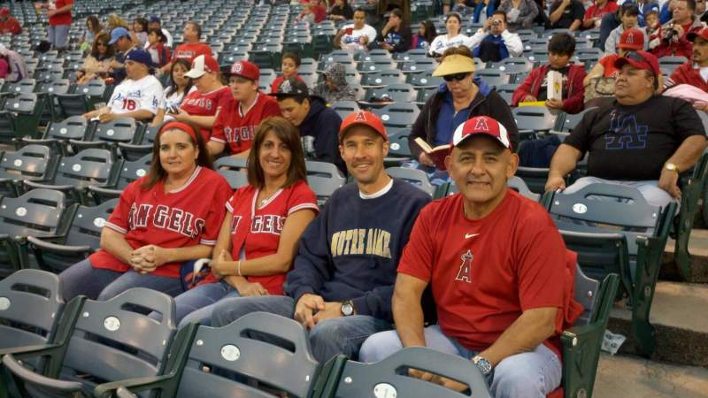 Seating view for Angel Stadium Section 104 Row D Seat 1