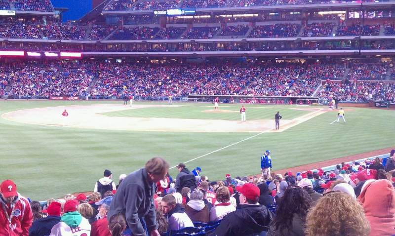 Seating view for Citizens Bank Park Section 139 Row 27 Seat 1