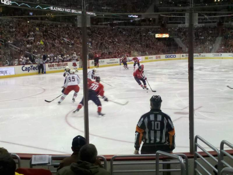 Seating view for Verizon Center Section 107 Row f Seat 8