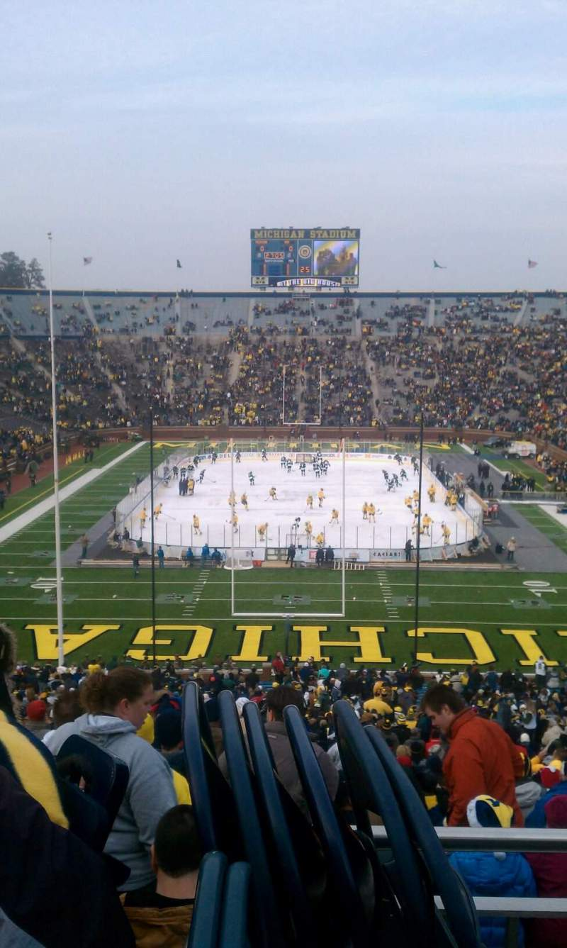 Seating view for Michigan Stadium Section 12 Row 40 Seat 1