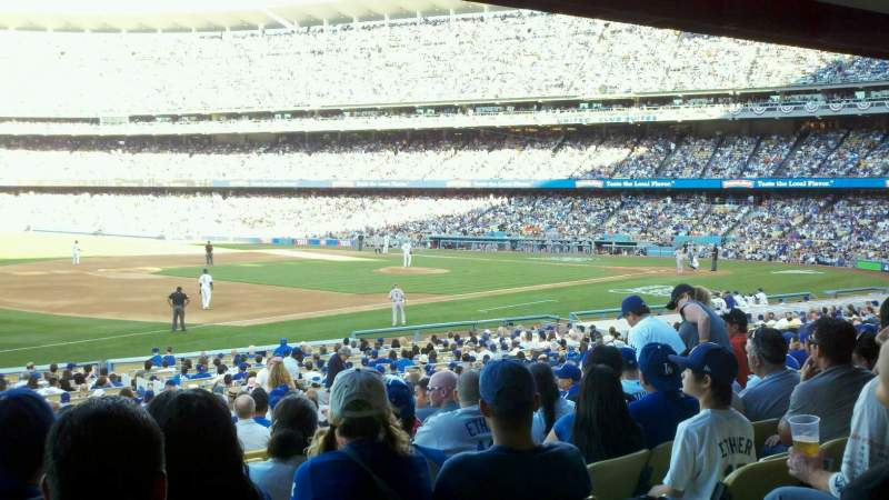 Seating view for Dodger Stadium Section 35FD Row W Seat 5