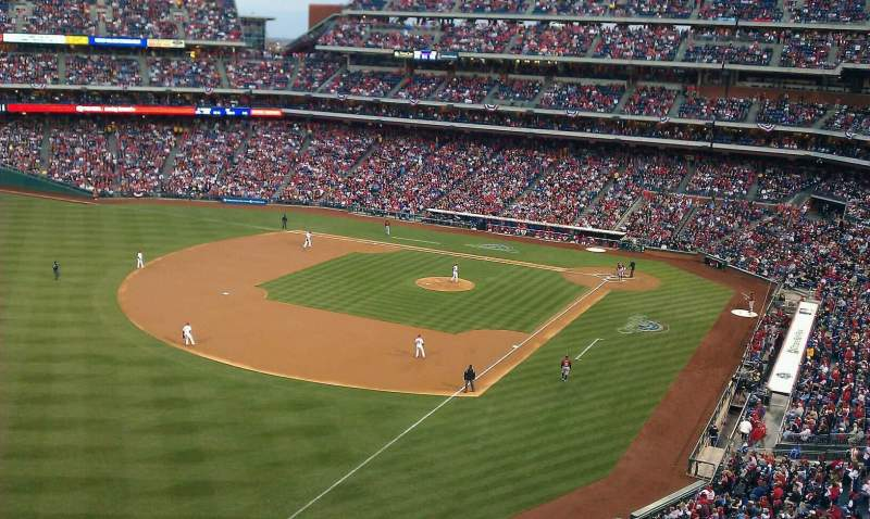 Seating view for Citizens Bank Park Section 332 Row 1 Seat 12