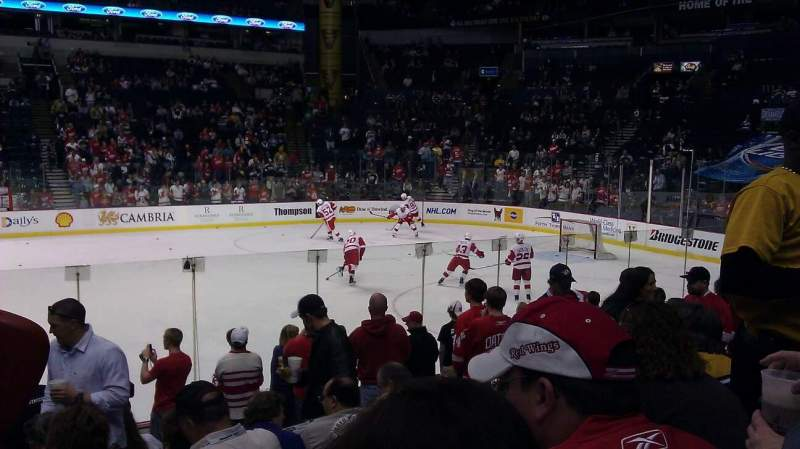 Seating view for Bridgestone Arena Section 106 Row LL Seat 8