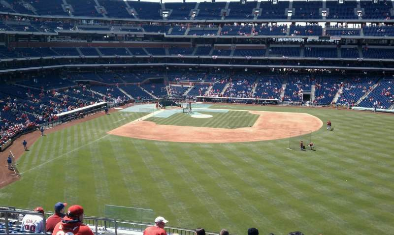 Seating view for Citizens Bank Park Section 202 Row 11 Seat 18