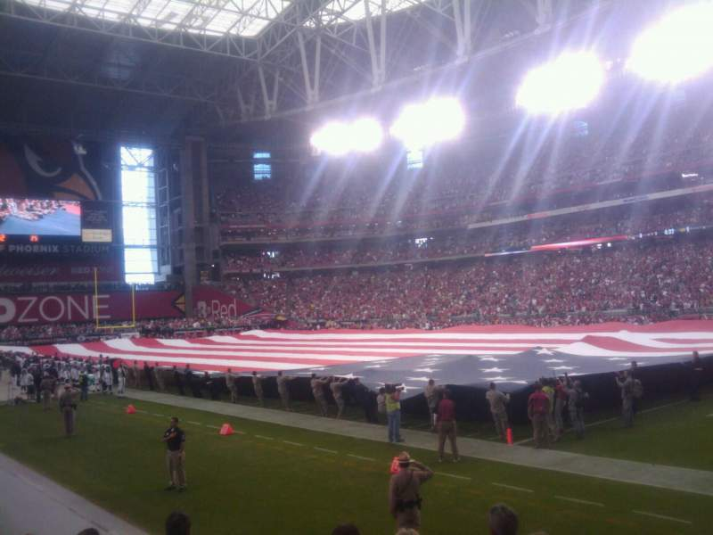 Seating view for University of Phoenix Stadium Section 124 Row 6 Seat 1