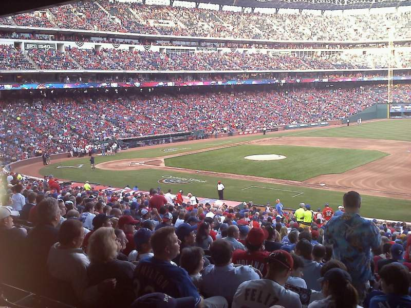 Seating view for Globe Life Park in Arlington Section 136 Row 34 Seat 4