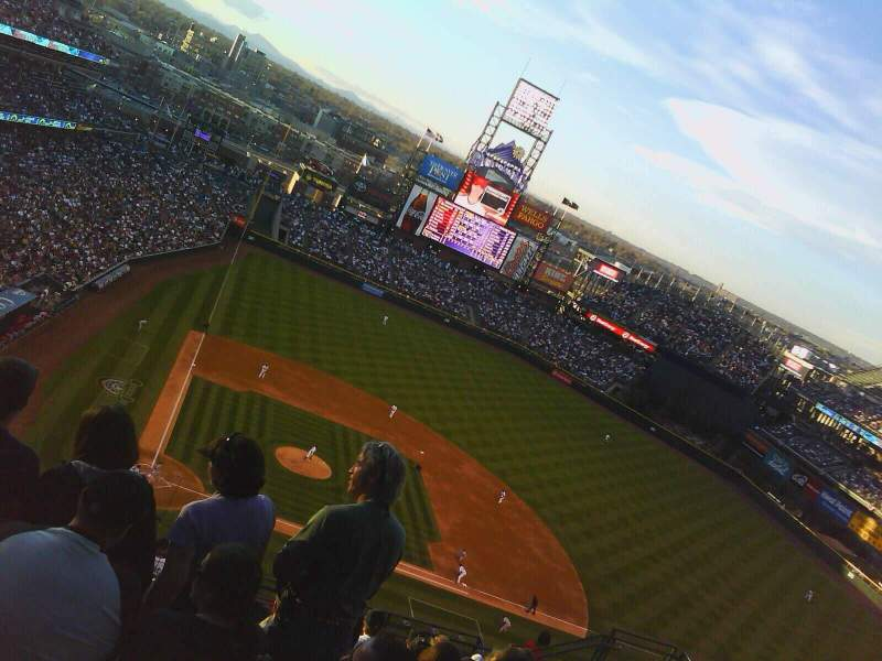 Seating view for Coors Field Section U326 Row 18 Seat 13
