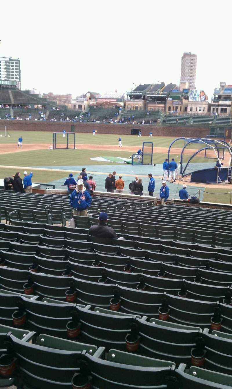 Seating view for Wrigley Field Section 114 Row 11 Seat 14