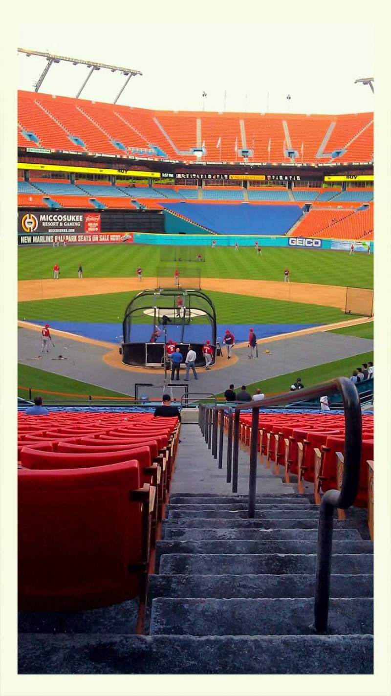 Seating view for Hard Rock Stadium Section Old 149 Row 27 Seat 1