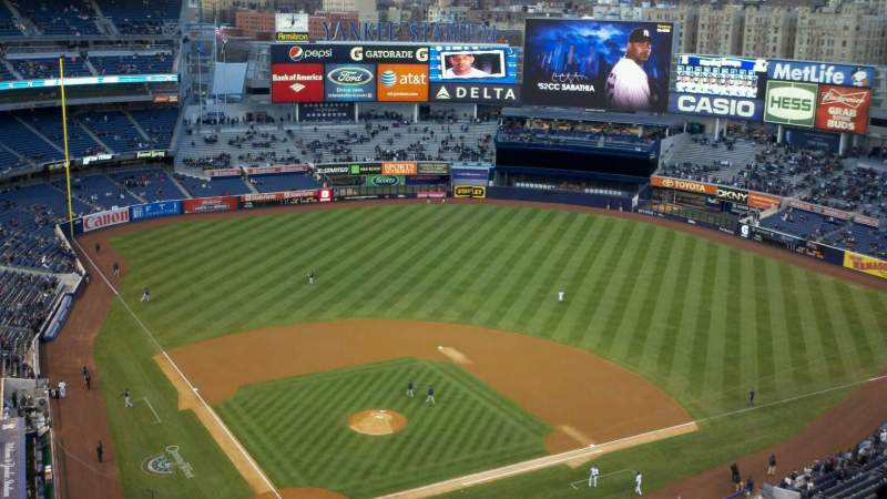 Seating view for Yankee Stadium Section 419 Row 14 Seat 26