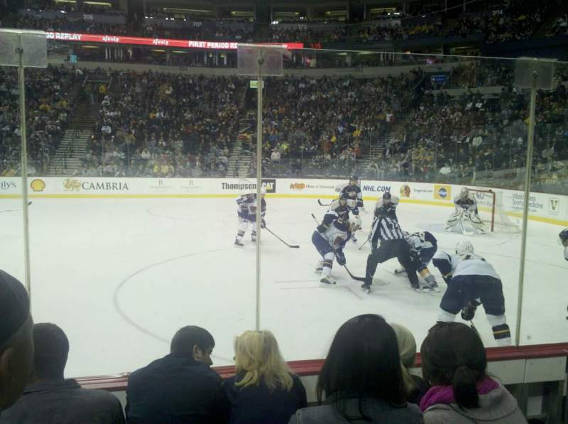 Seating view for Bridgestone Arena Section 117 Row DD Seat 7