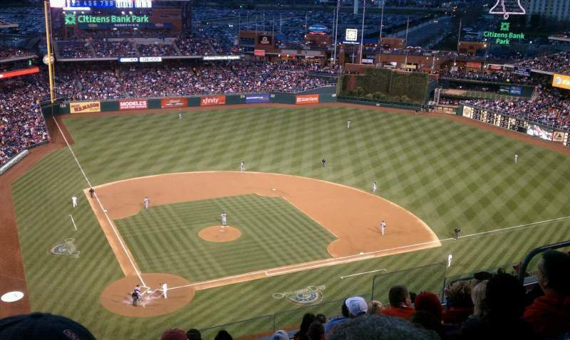 Seating view for Citizens Bank Park Section 418 Row 8 Seat 10