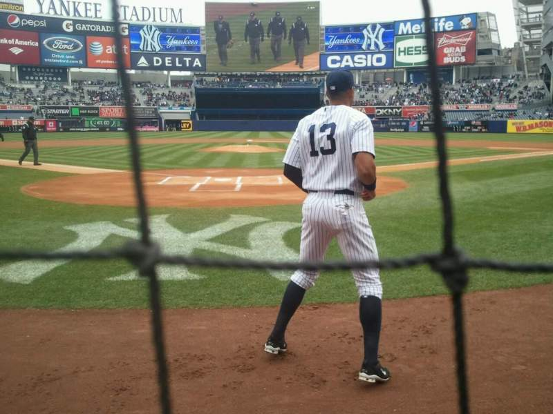 Seating view for Yankee Stadium Section 020 Row 1 Seat 5