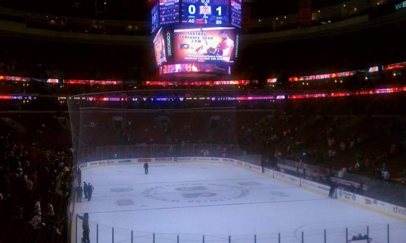 Seating view for Wells Fargo Center Section 118 Row 23 Seat 3