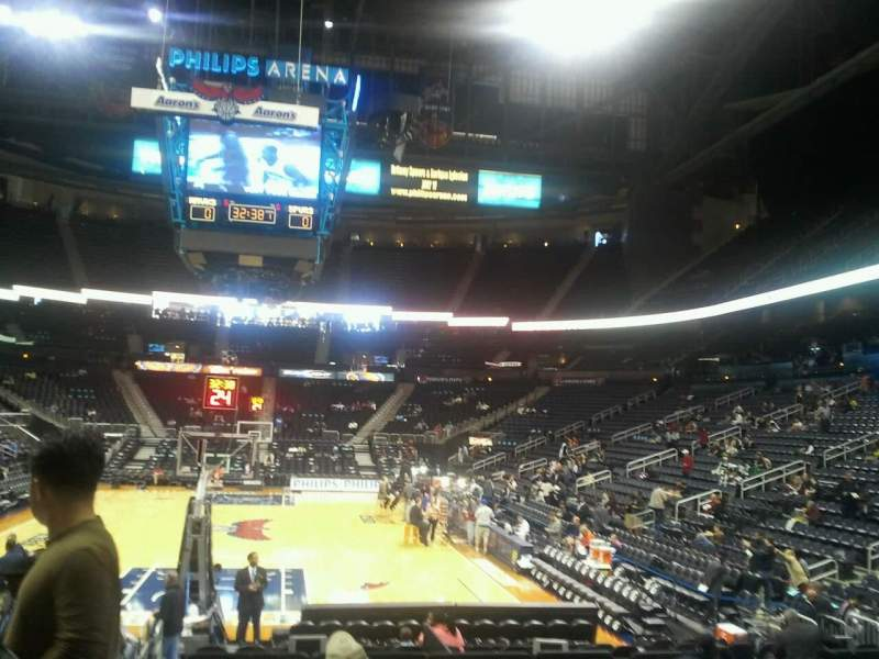 Seating view for State Farm Arena Section 120 Row d Seat 12