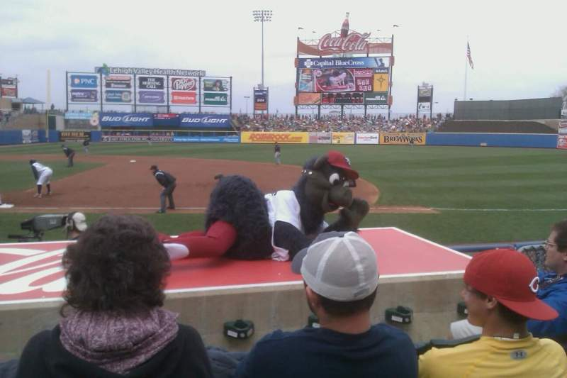 Seating view for Coca-Cola Park Section 106 Row H Seat 10