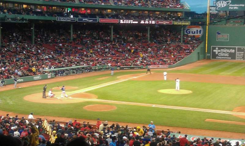 Seating view for Fenway Park Section Grandstand 15 Row 16 Seat 6
