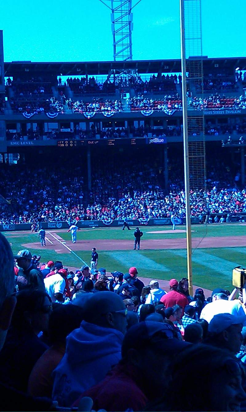 Seating view for Fenway Park Section Right Field Box 91 Row SS Seat 8