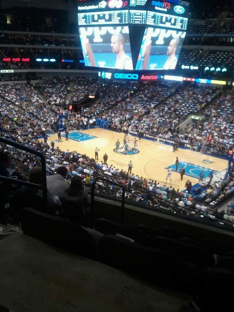 Seating view for American Airlines Center Section 206 Row D Seat 14