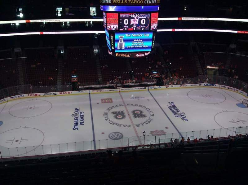 Seating view for Wells Fargo Center Section 212 Row 12 Seat 13