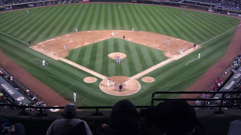 Seating view for Guaranteed Rate Field Section 533 Row 5 Seat 2