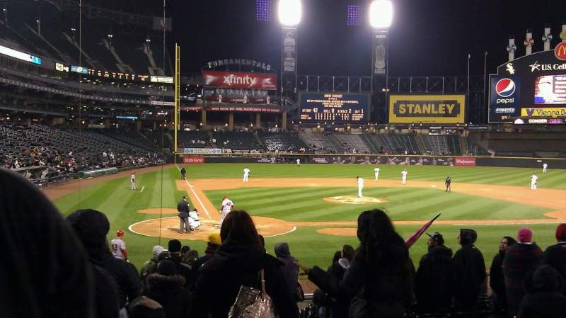 Seating view for Guaranteed Rate Field Section 129 Row 20 Seat 1
