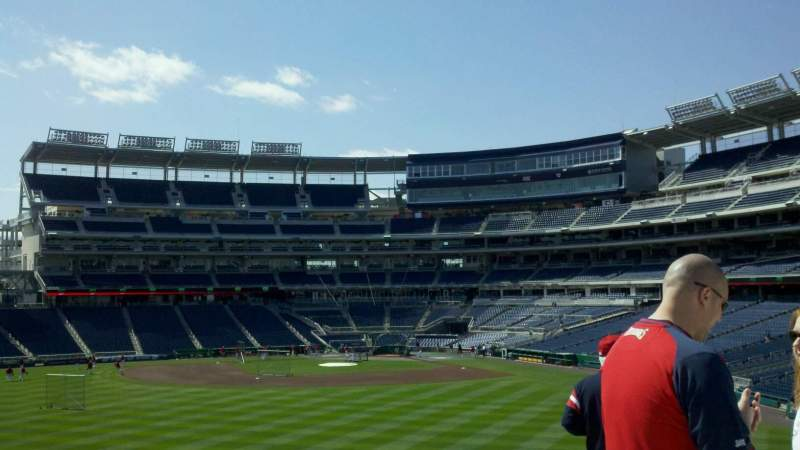 Seating view for Nationals Park