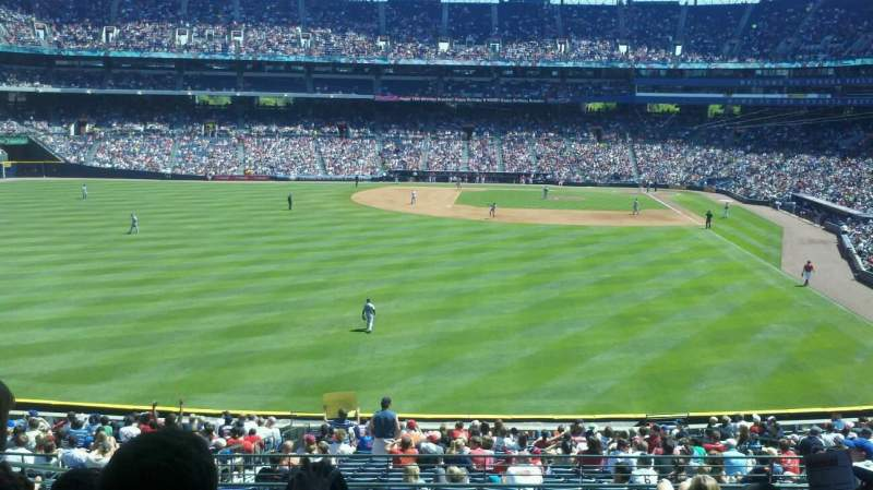 Seating view for Turner Field Section 238 Row 9 Seat 7