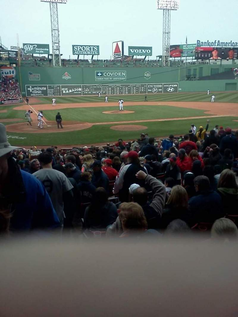 Seating view for Fenway Park Section Field Box 38 Row L Seat 9