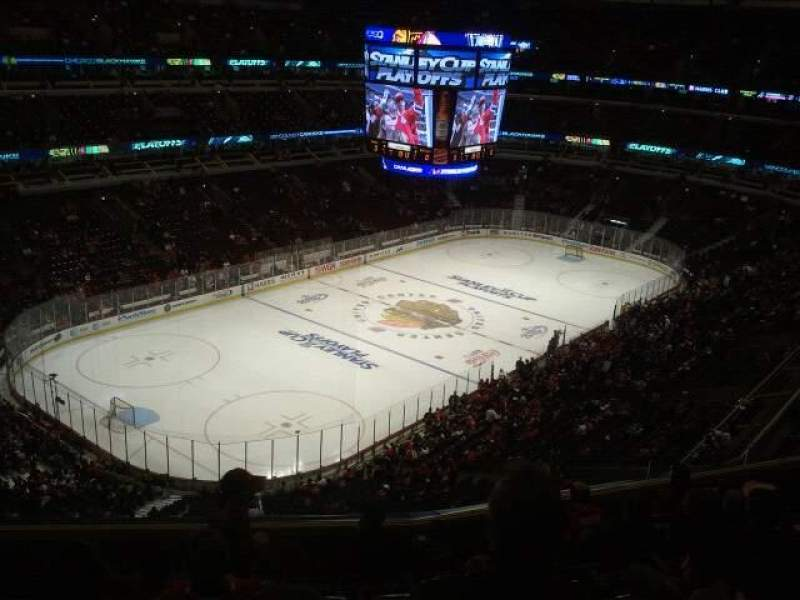 Seating view for United Center Section 305 Row 8 Seat 10
