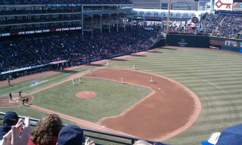Seating view for Progressive Field Section 428  Row D Seat 1
