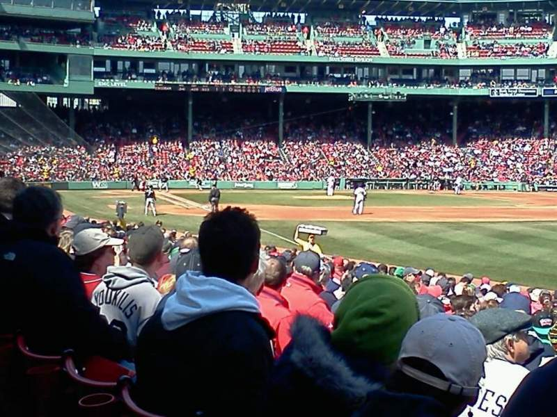 Seating view for Fenway Park Section Right Field Box 94 Row kk Seat 2