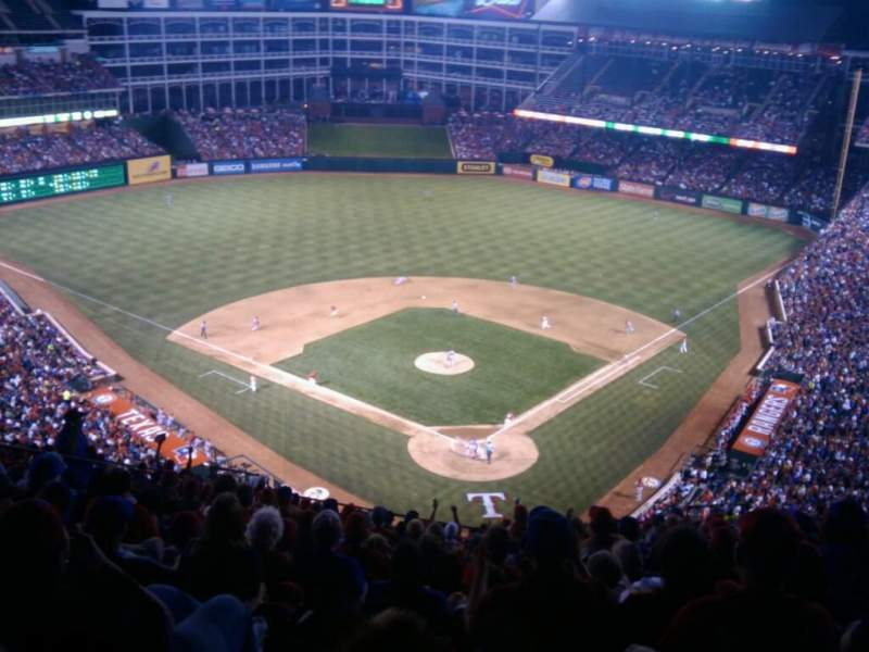 Seating view for Globe Life Park in Arlington Section 325 Row 18 Seat 22