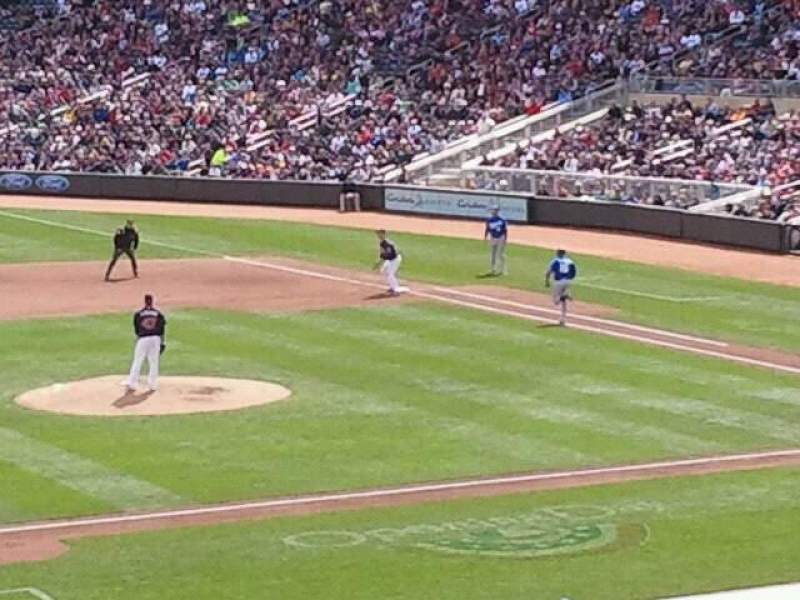 Seating view for Target Field Section 121 Row 22 Seat 4