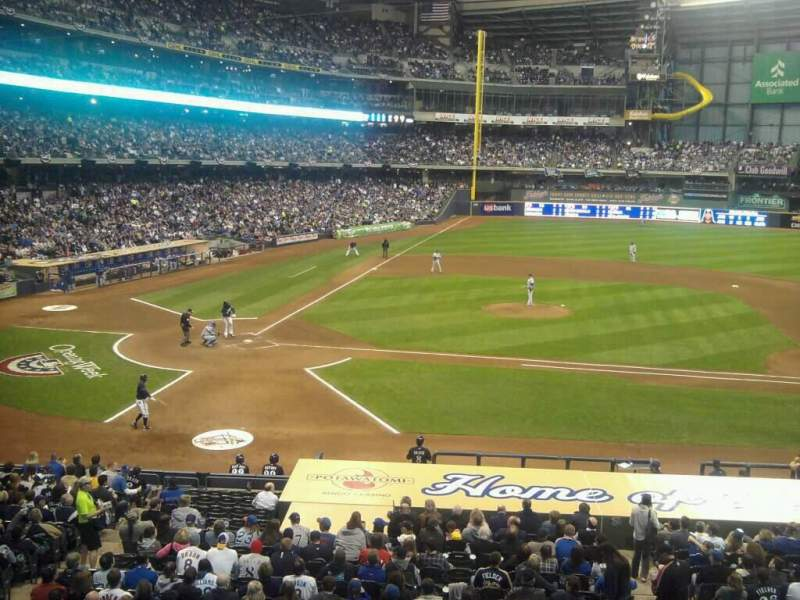 Seating view for Miller Park Section 214 Row 1 Seat 11