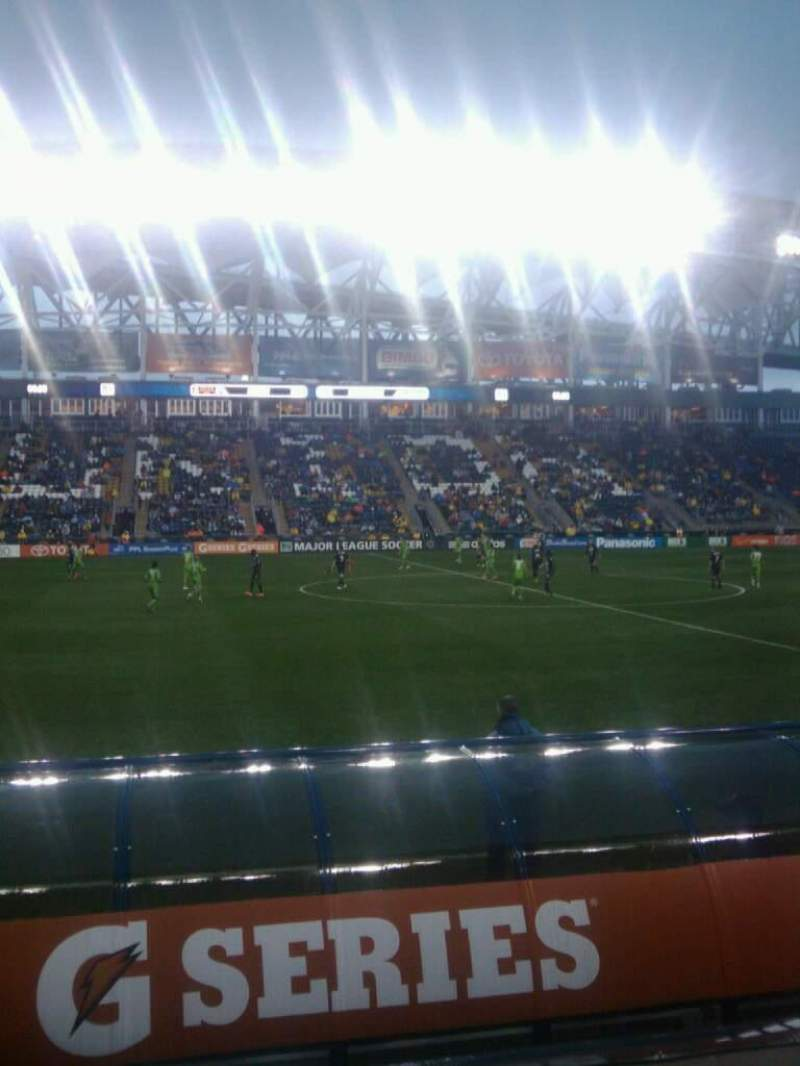Seating view for Talen Energy Stadium